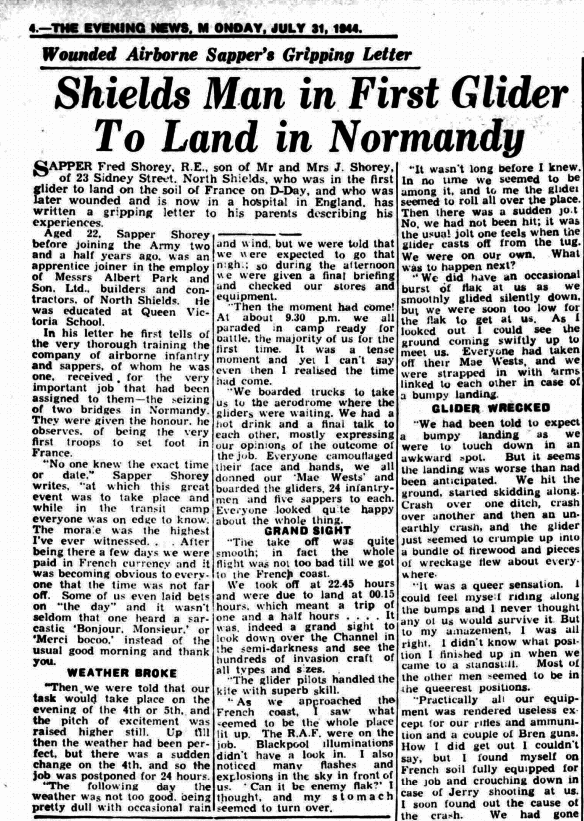 Shields Daily News, 31 July 1944