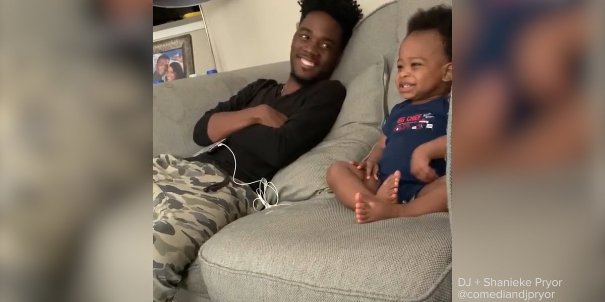 We talked to the parents behind this heartwarming viral video of a baby 'talking' to his dad 😍