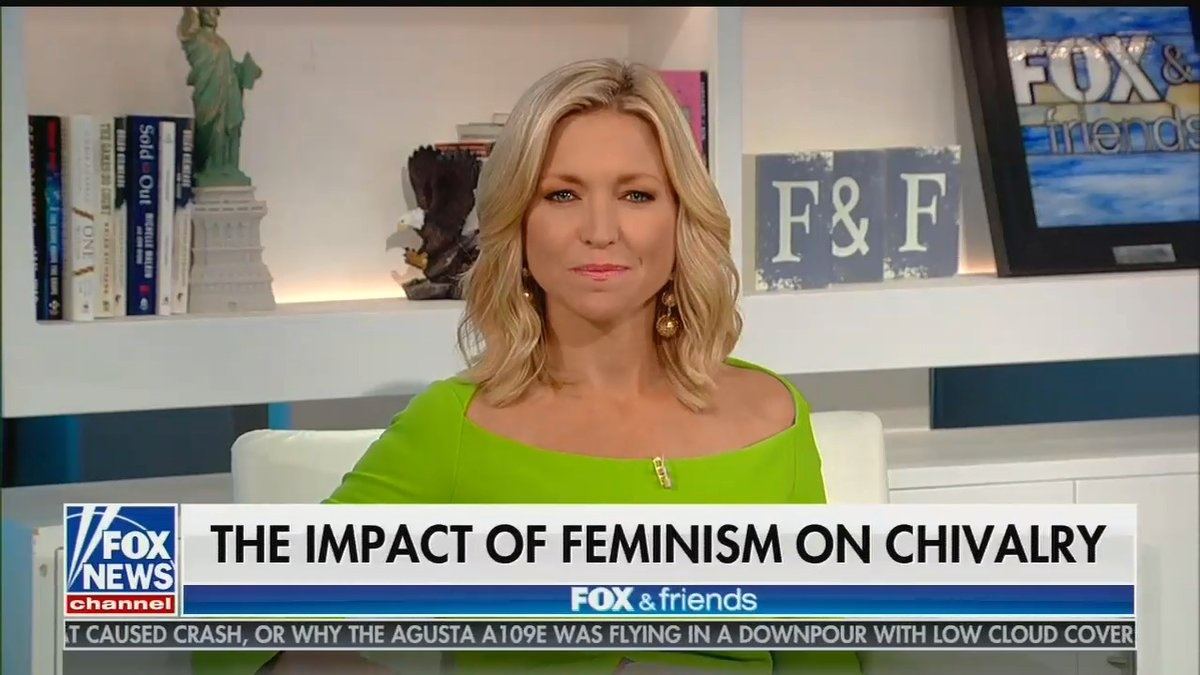 Poor Ainsley Earhardt Stuck In This Tiny Room Forever Because Feminists Murdered All The Door-Holders