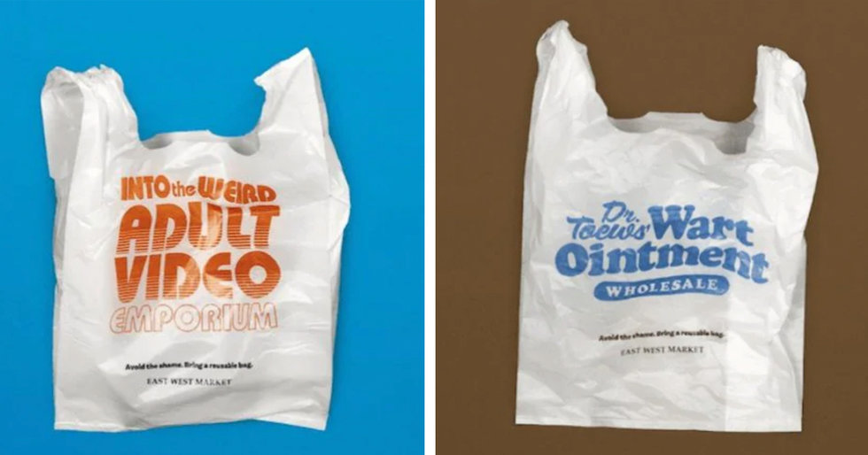 This Grocery Store Shames Customers With Embarrassing Plastic Bags