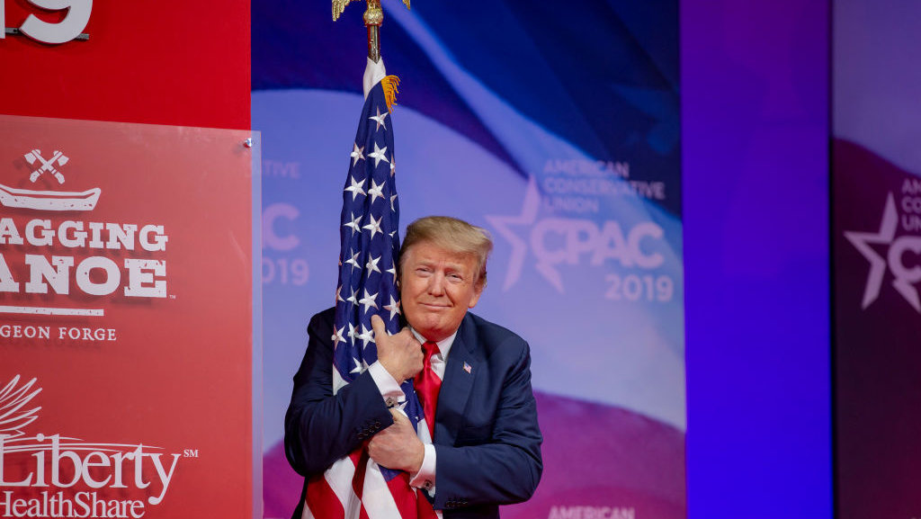 Republicans propose constitutional amendment to outlaw flag burning — President Trump endorses it