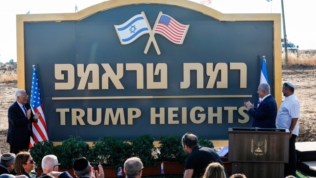 Israel honors President Trump with 'Trump Heights,' a settlement in the Golan Heights