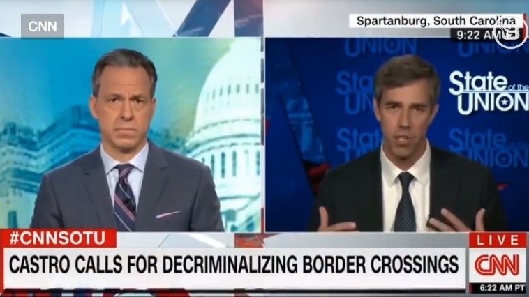 Beto tells CNN that illegal immigrants do not pose a threat to Americans