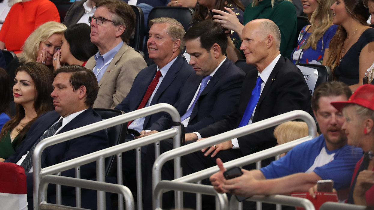 Reporter mocks Marco Rubio after the senator appeared at Trump's Orlando rally. Rubio shuts it down fast.