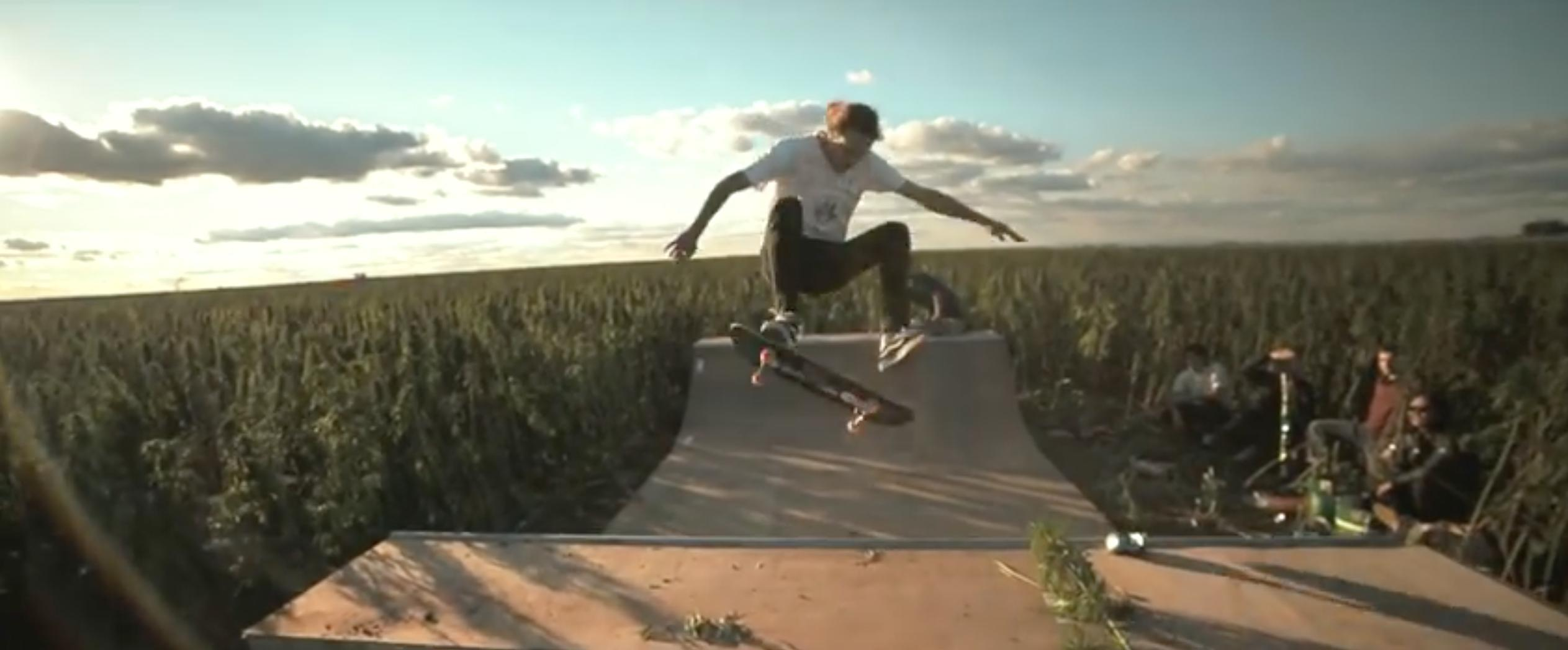 WATCH: These Guys Built A Half Pipe In The Middle Of A Sea Of Weed
