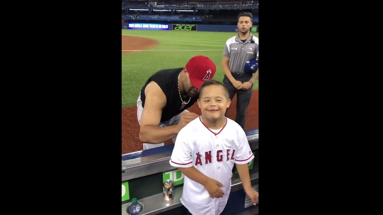 Baseball star Albert Pujols is famous for racking up home runs. But he's also become a champion for people with Down syndrome.