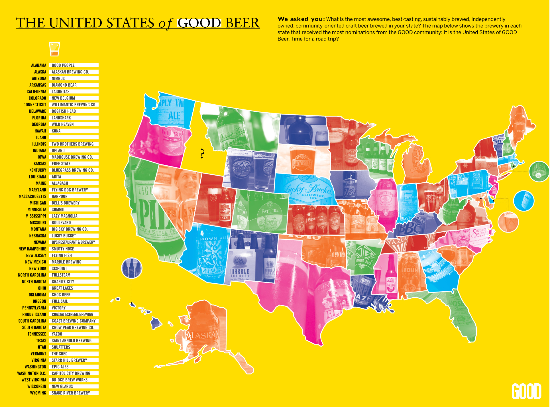 united states brewery map UPDATE: Map: The United States of GOOD Beer   GOOD