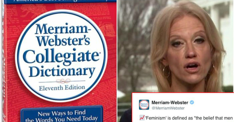 Merriam-Webster, Sassy As Ever, Tweeted To Kellyanne Conway The