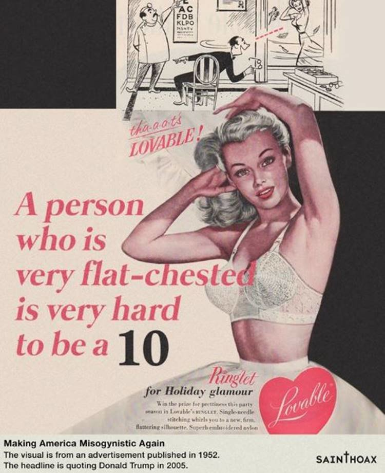 Saint Hoax Pairs Sexist Trump Quotes With '50s Advertising - GOOD