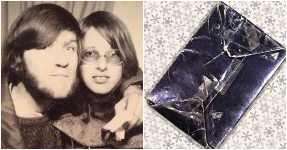 After 48 years, a man finally opens a mystery gift given to