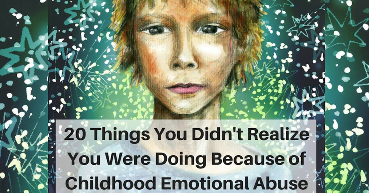 20 things you didn't realize you were doing because of childhood
