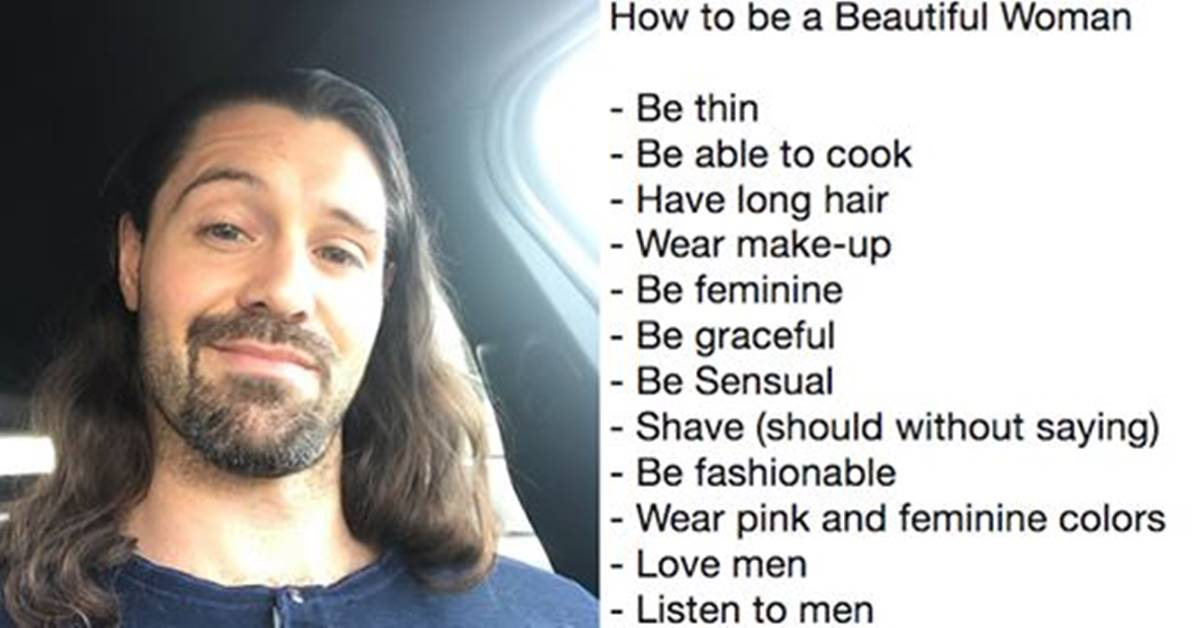 Guy's sexist list explaining how to be a 'beautiful woman
