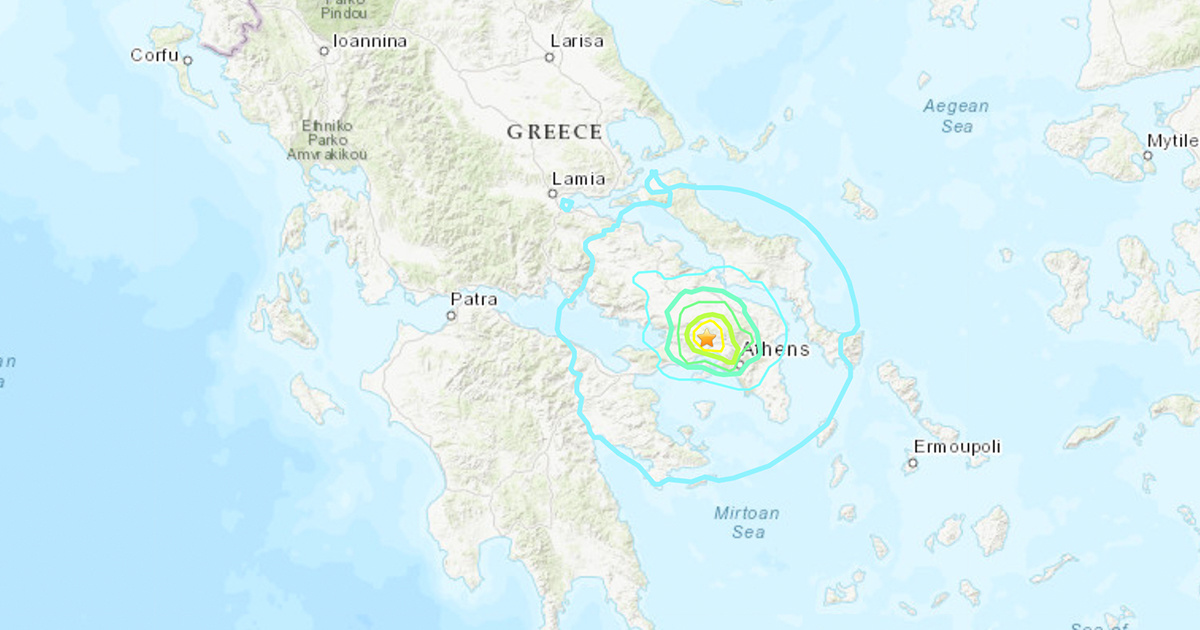Powerful Earthquake Hits Near Athens Greece