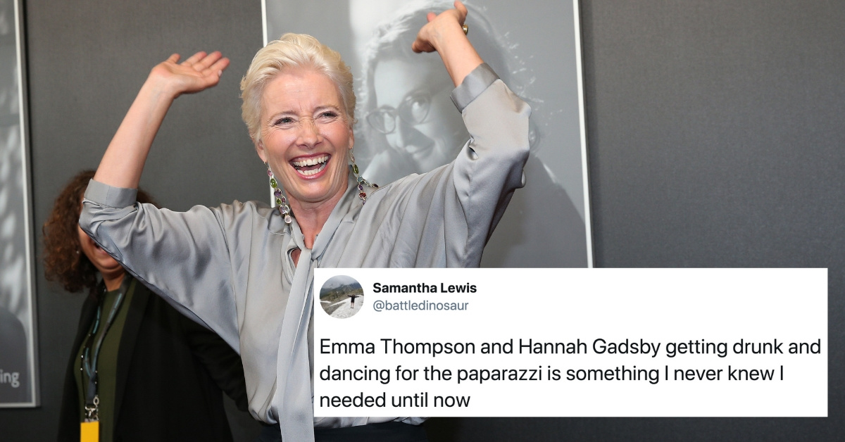 Drunk Emma Thompson Doing The Robot After Day Drinking With Comedian Hannah Gadsby Is A Total Mood