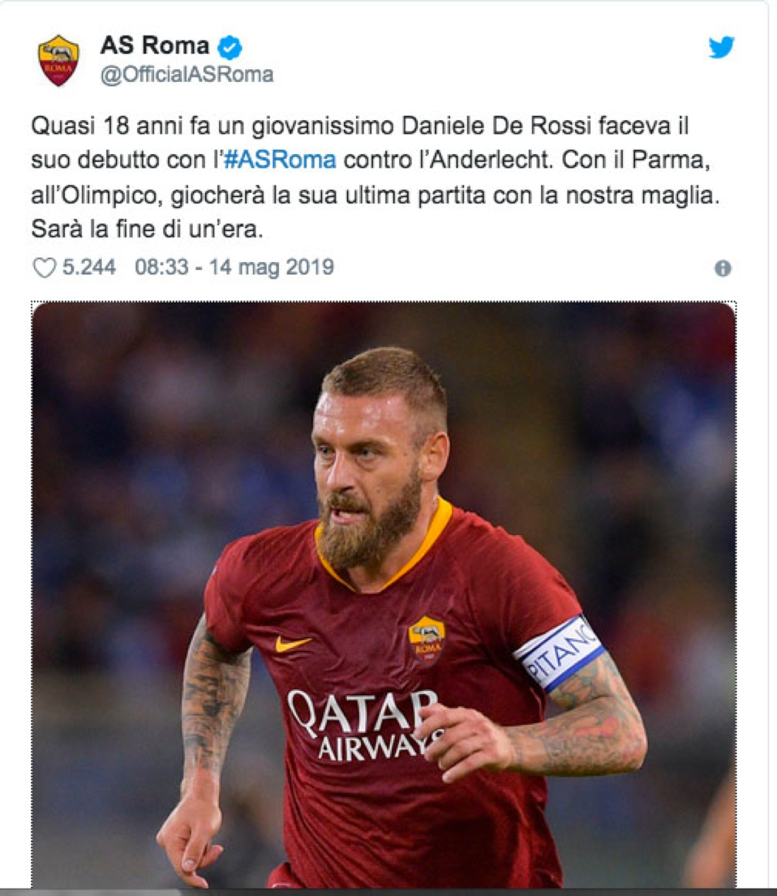 Daniele De Rossi: addio alla Roma. La sua carriera in immagini ...