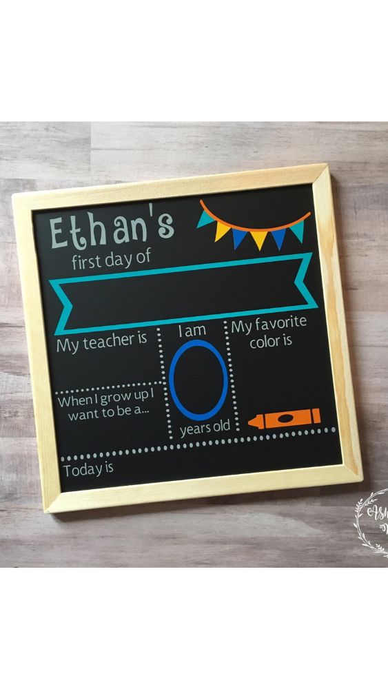 photograph relating to Free Printable Templates for 1st Day of School Signs for Boys named 20 1st working day of faculty indicators + photograph tips  - Motherly