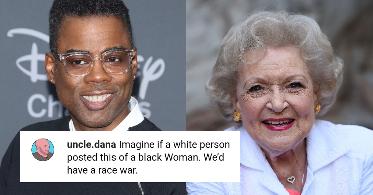 Chris Rock Sparked A Heated Debate About Racism After Sharing A Betty White Meme About Mass Shootings
