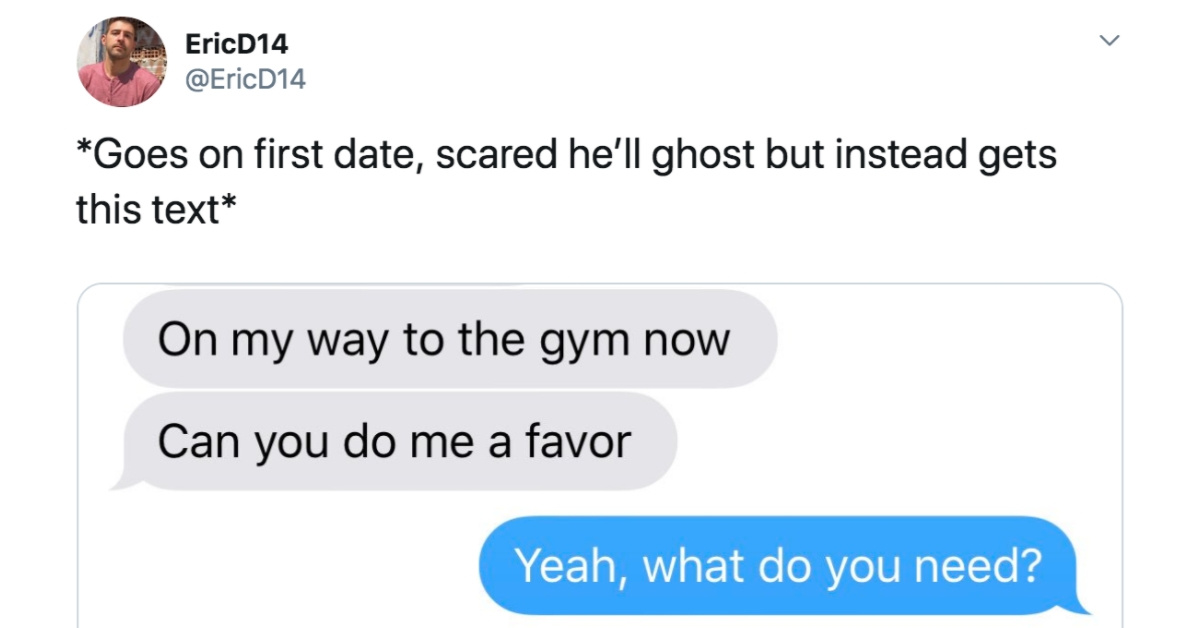 This Creepy Request From A Guy After Just One Date Has The Internet Running For The Hills