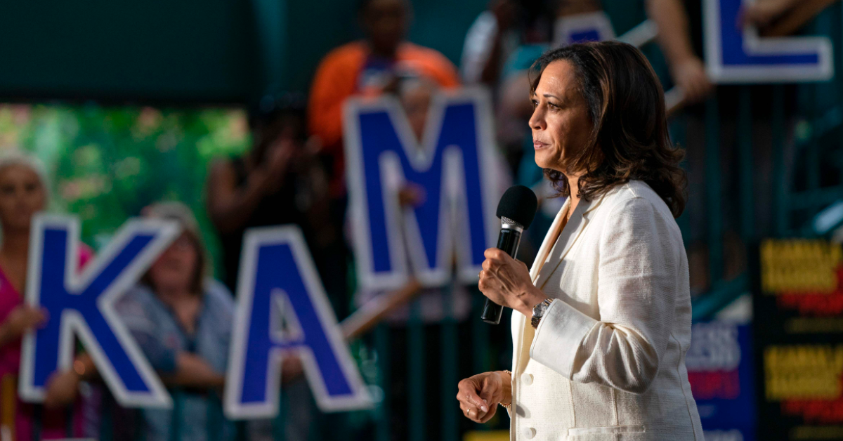 Kamala Harris Reveals The 'Heartbreaking' Moment Behind That Viral Waving Meme Video