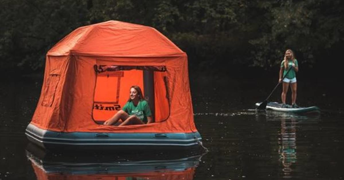 Bizarre tent-raft looks like a total death trap: 'Why live when you can die?'