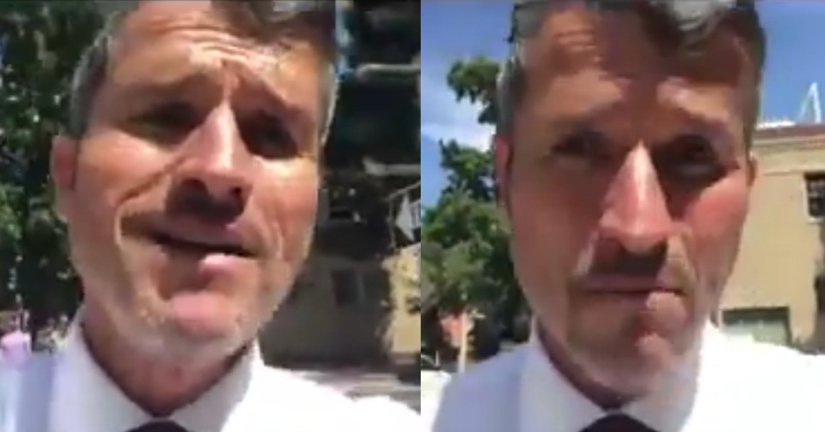 Anti-Vaxxer Interrupts His Own Crazed Rant To Attack A California State Senator On Facebook Live