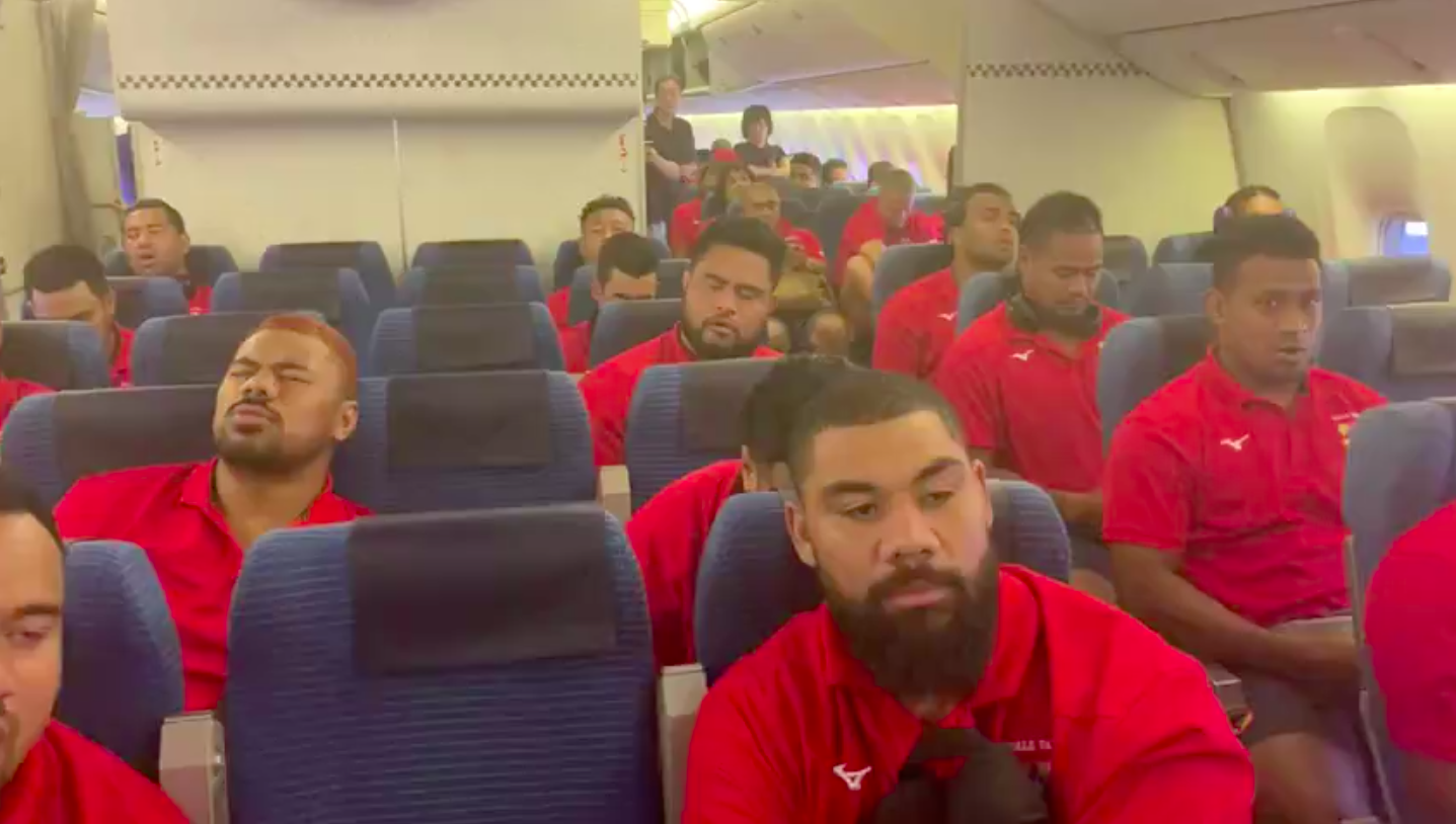 Tongan Rugby Team Entertains Flight By Bursting Into Song On Their Way To World Cup