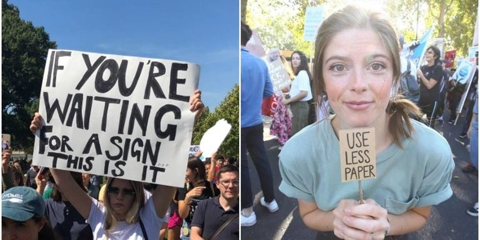 25 of the funniest signs from the global Climate Strike