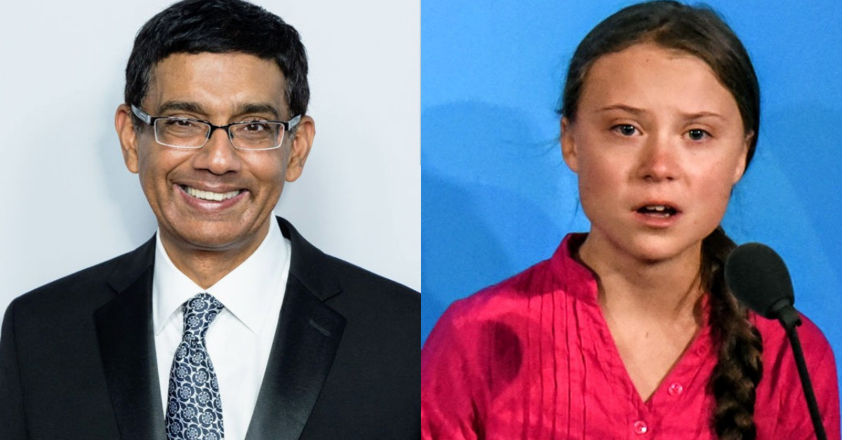 Far-Right Trumpian Dinesh D'Souza Slammed For Comparing Greta Thunberg To Nazi Propaganda