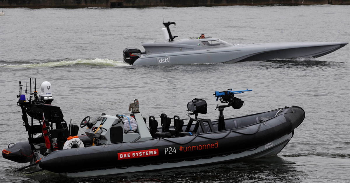 Britain unveils drone that will protect vulnerable warships