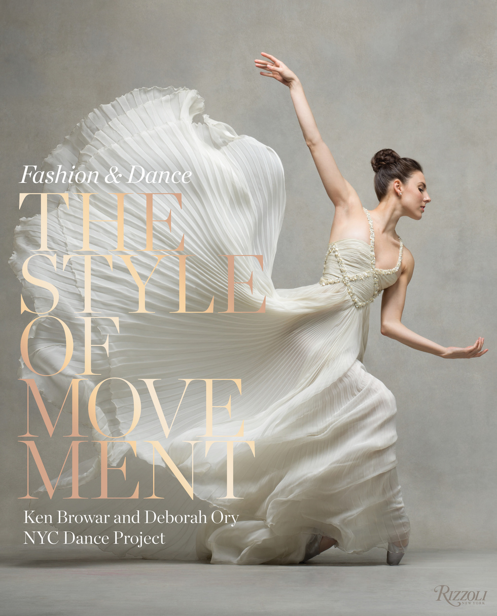 Dancer Tiler Peck balances on pointe in a diaphanous white gown on the cover of the book The Style of Movement.
