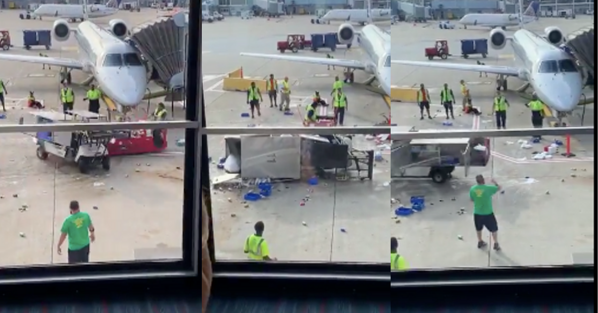 Out-Of-Control Beverage Vehicle Goes On Tear At Chicago Airport Until Ramp Worker Saves The Day In Bizarre Video
