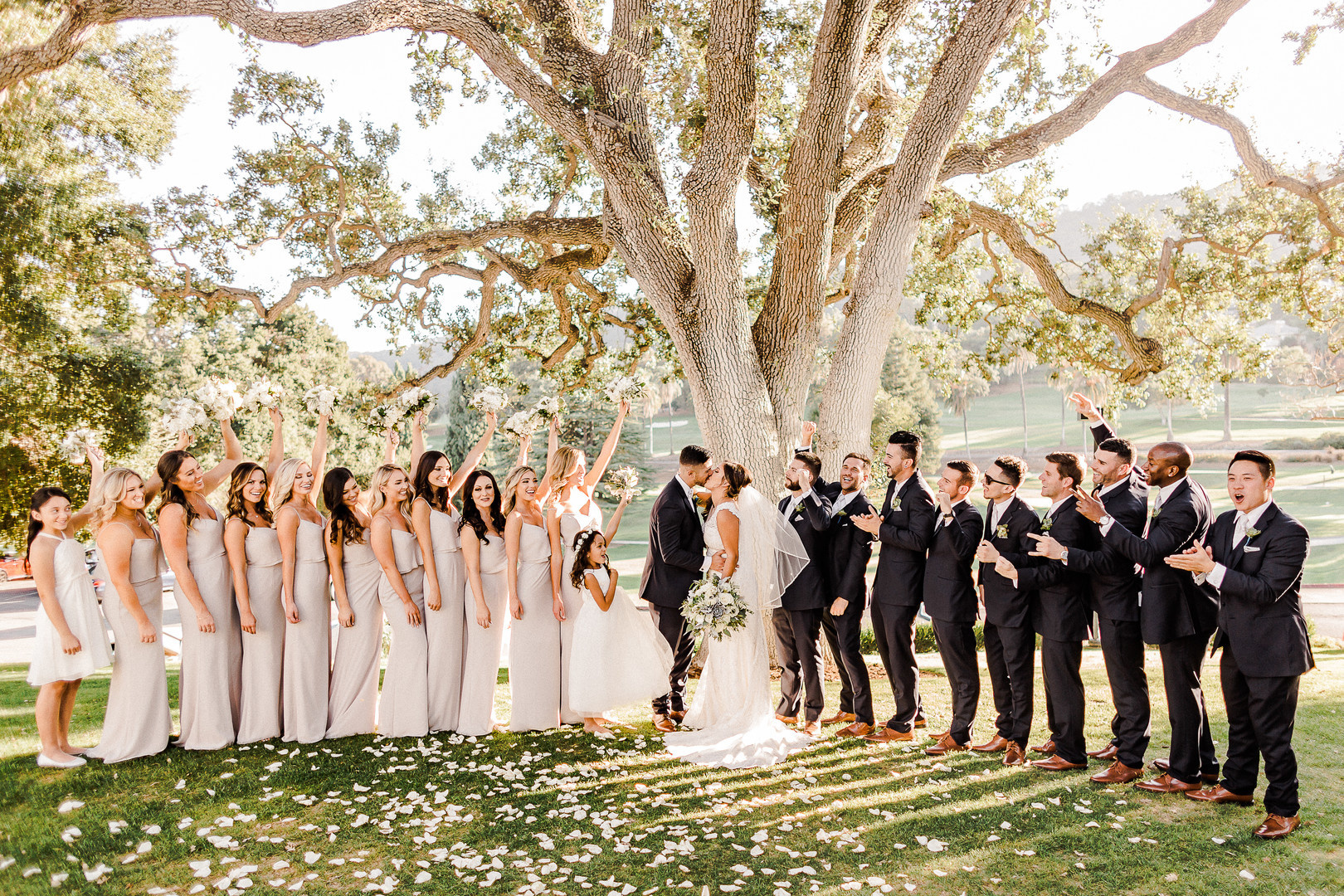 Wedding Inspiration: A Glittering Garden Party in the East Bay