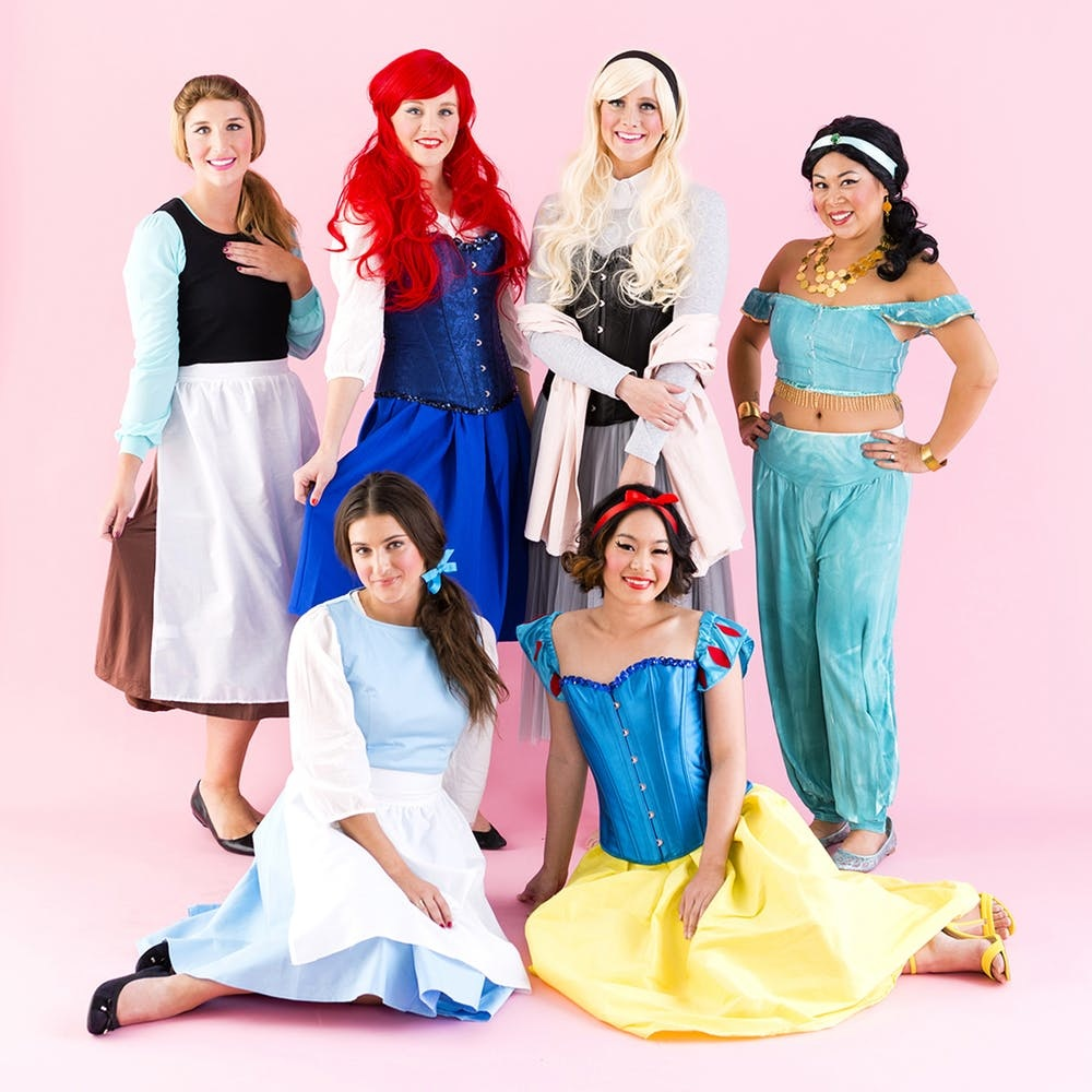 Make Your Dreams Come True With This Disney Princess Group Halloween Costume Brit Co