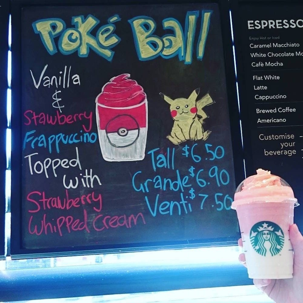 The Pokemon Frappuccino Is Your New Fave Starbucks Drink Brit Co