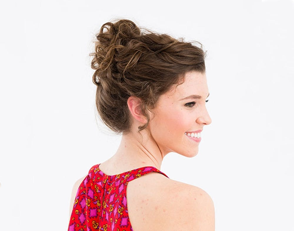 12 Updos for Curly-Haired Girls - Brit + Co