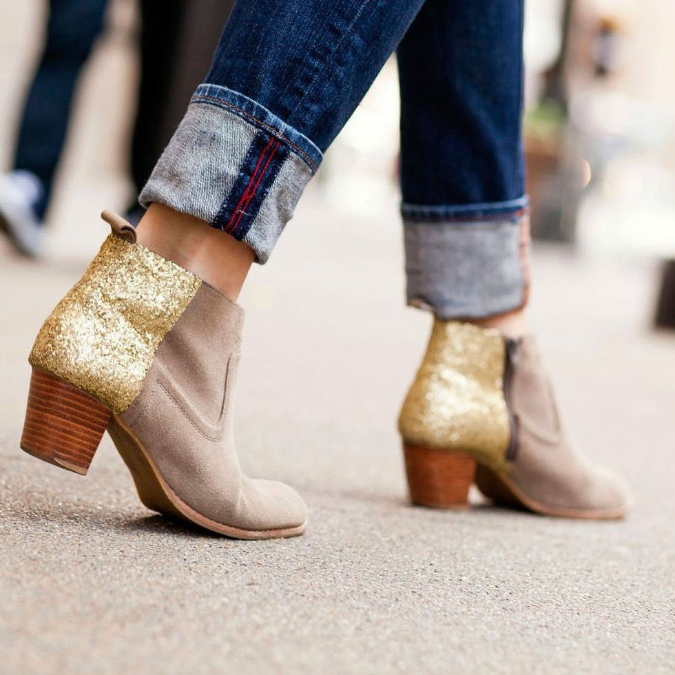 Get on This DIY Basic: Glitter Booties