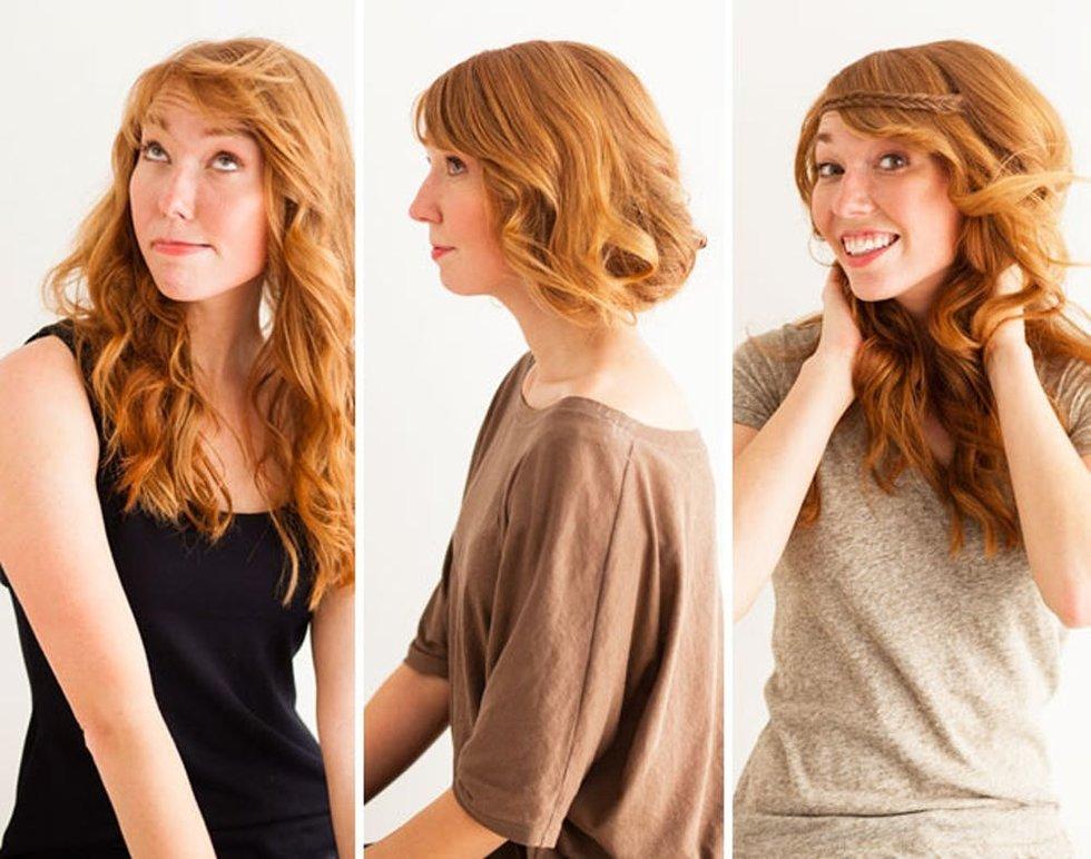 3 Genius Hair Tricks: The Faux Bob, Disappearing Bangs, and Fishtail Headband