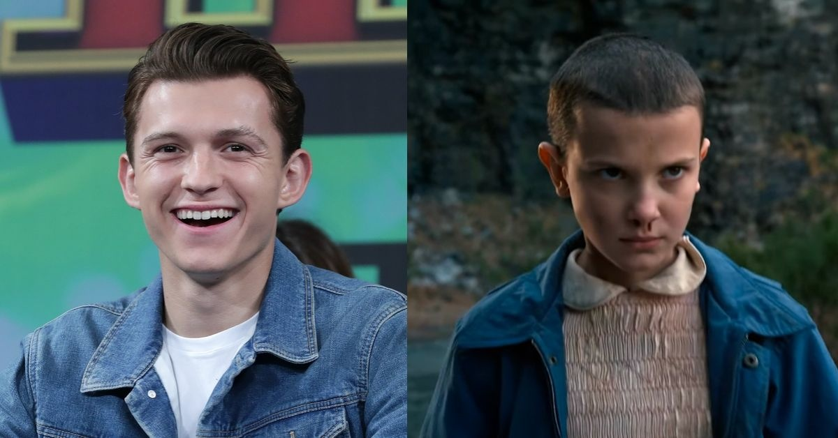 Tom Holland Shaved His Head, And Everyone Thinks He Looks Like Eleven From 'Stranger Things'