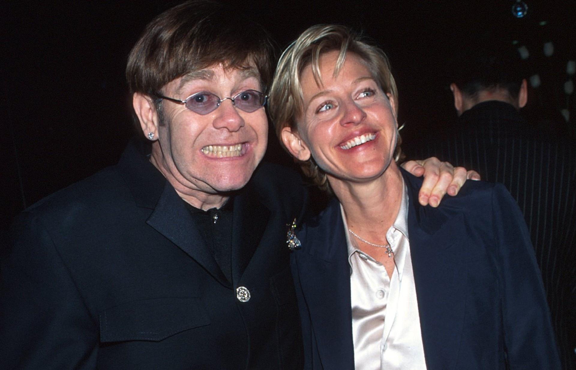 Elton John shuts down critics of the friendship between Ellen DeGeneres and former President George W ...