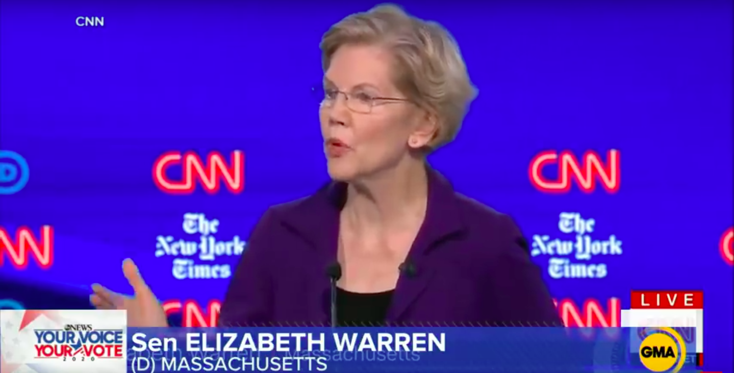 Democrats In Dem Primary Debate Beat Up On Elizabeth Warren From The Right