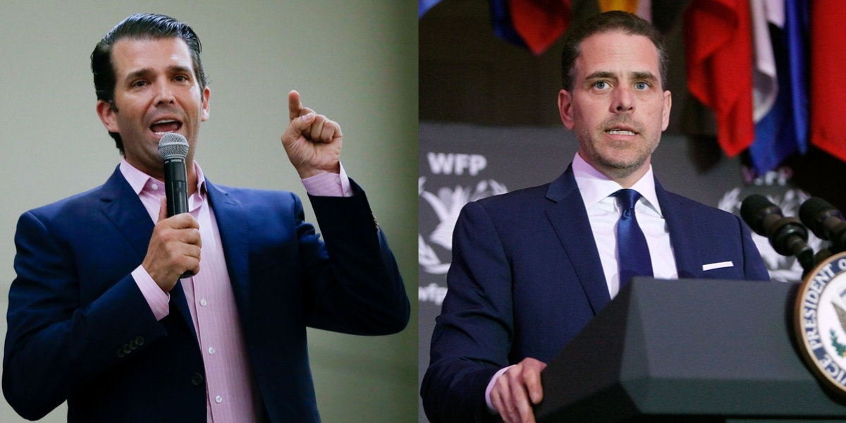 Children Of Wealthy Republicans Are Slamming Hunter Biden For 'Nepotism', And The Irony Is Rich