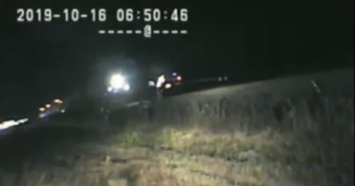 Dashcam Catches Utah State Trooper Pulling Man From Car A Split-Second Before It's Hit By A Train
