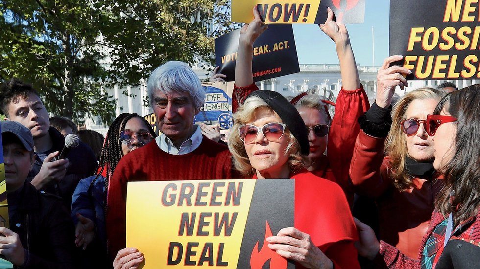Jane Fonda, Sam Waterston Arrested on Capitol Hill for Protesting Green New Deal