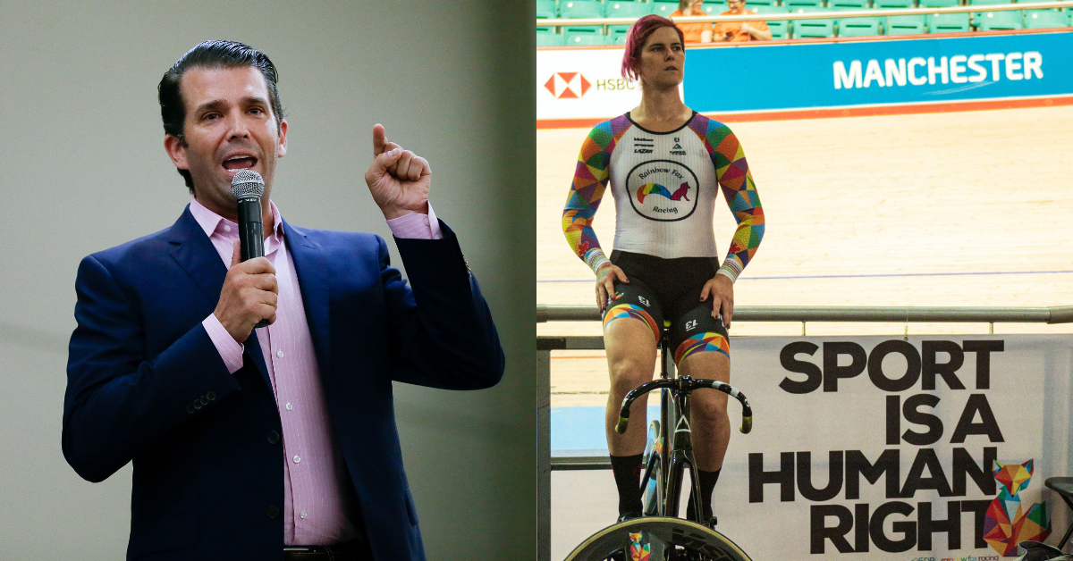 Don Jr. Cries Foul After Transgender Cyclist Wins World Championship In Record Time