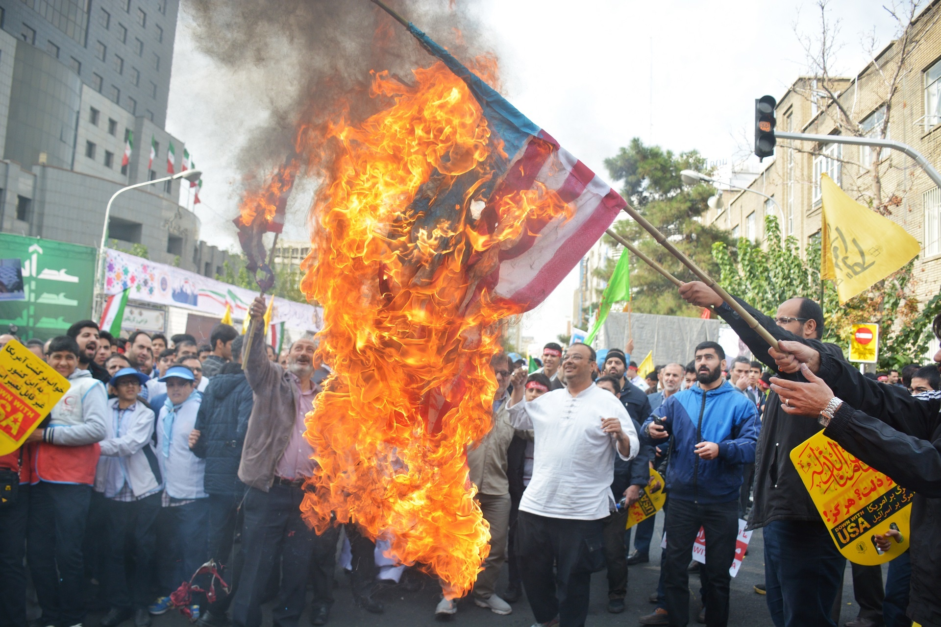 Image result for Thousands of Iranians Chant 'Death to America' on Embassy Takeover Anniversary