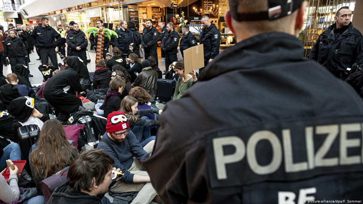 Climate Protest at Berlin Airport Sparks Massive Police Operation