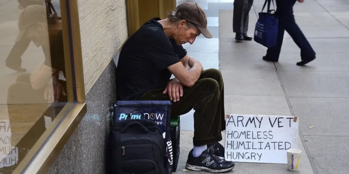 The number of homeless veteran in the US has declined by more than half in the last decade