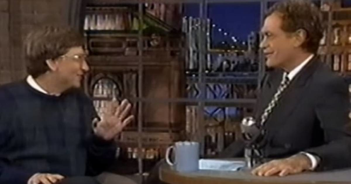 Image result for Bill Gates explaining the internet to a smug David Letterman in 1995 is hilarious in hindsight