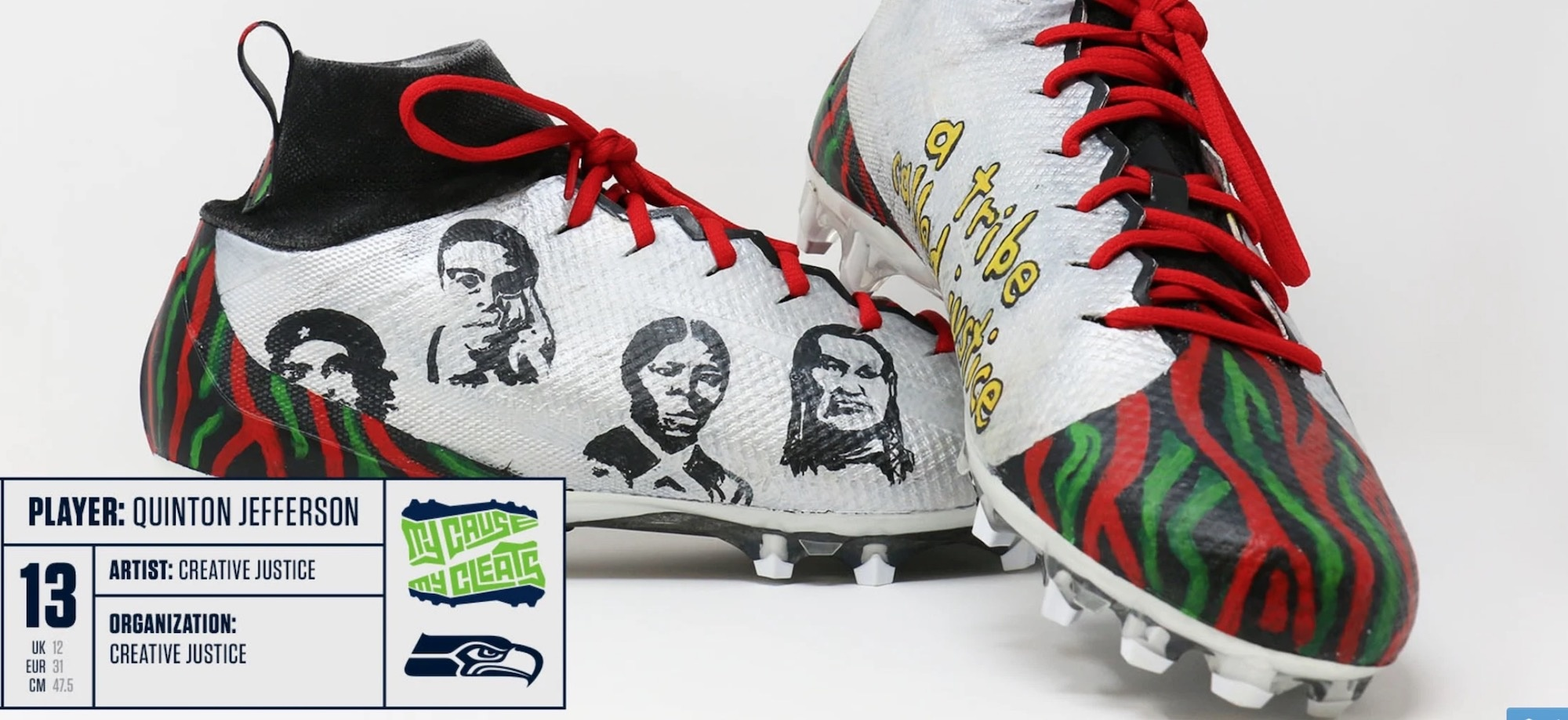 Seattle Seahawks player to wear 'My Cause My Cleats' design with image of Che Guevara
