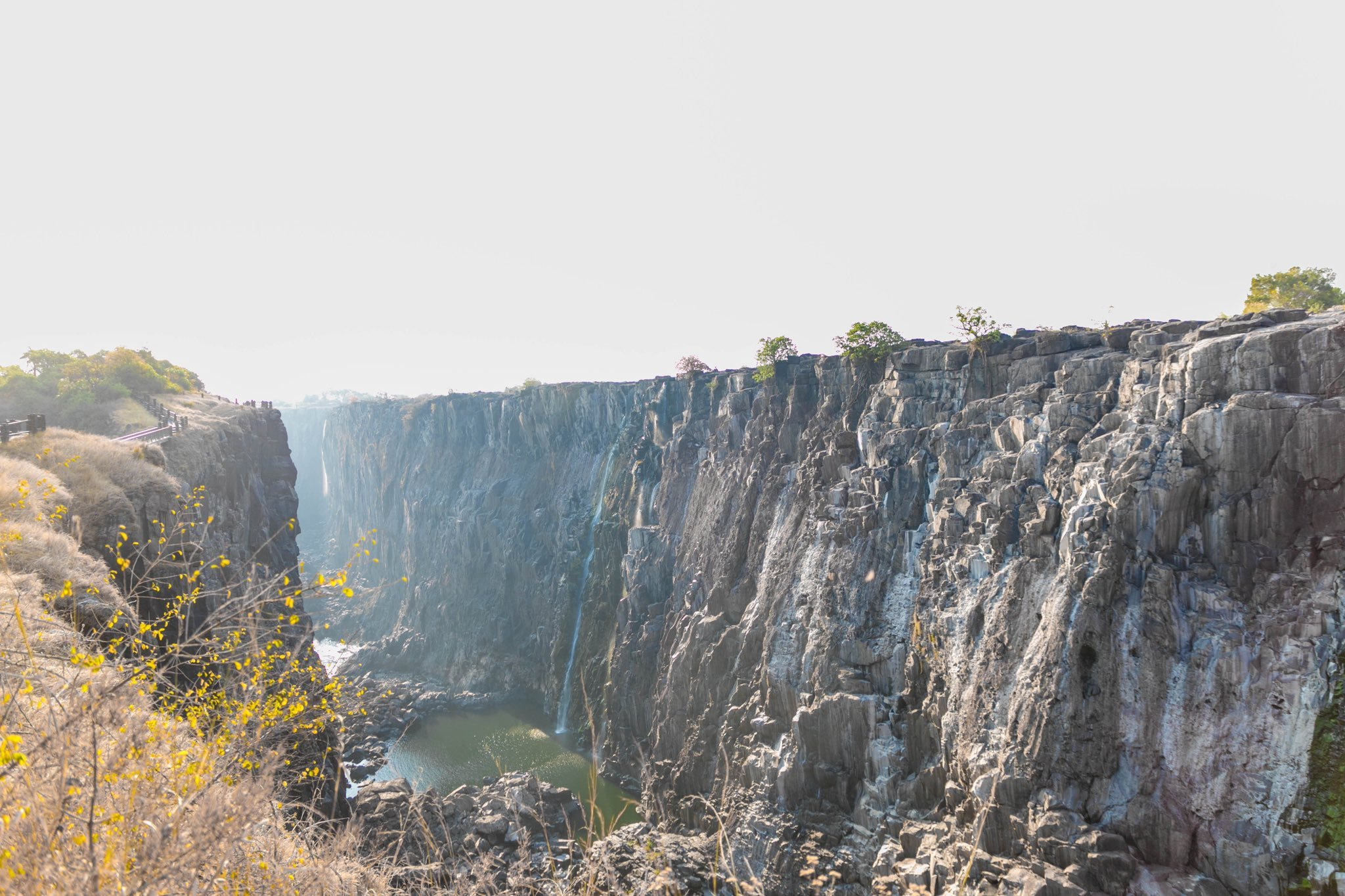 Victoria Falls Dries Drastically After Worst Drought In A